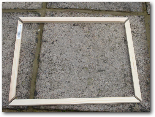 Easy low cost do it yourself secondary glazing the frame laid out ready for gluing solutioingenieria Gallery